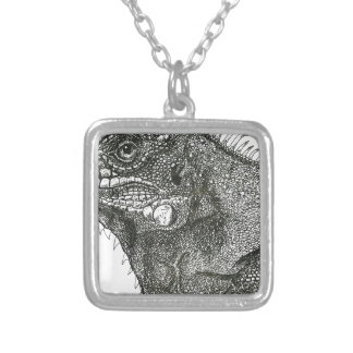 Iguana Silver Plated Necklace
