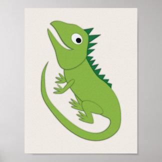 Iguana Simple Nursery Art Poster