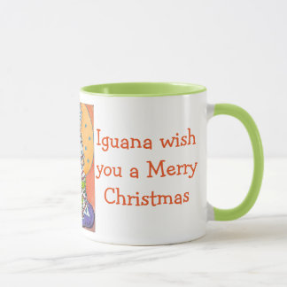 Iguana Wish You a Merry Christmas Mug