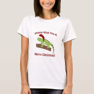 Iguana Wish You A Merry Christmas T-Shirt
