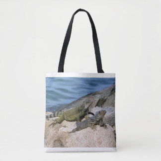 Iguanas Chilling Out Tote Bag