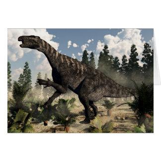 Iguanodon roaring - 3D render Card