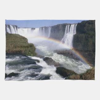 Iguassu Falls, Parana State, Brazil. Aerial view Hand Towel