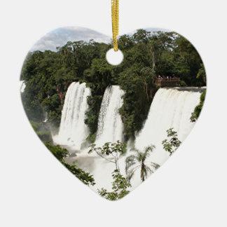 Iguazu Falls, Argentina, South America Ceramic Ornament