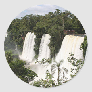Iguazu Falls, Argentina, South America Classic Round Sticker