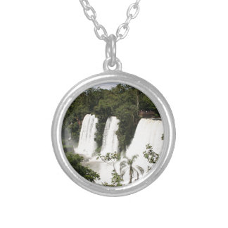 Iguazu Falls, Argentina, South America Silver Plated Necklace