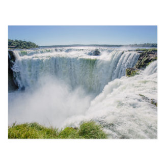 Iguazu Falls, Devil'S Throat, Argentina Postcard