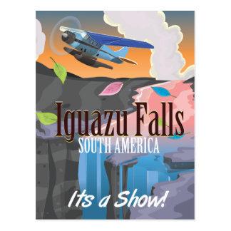 Iguazu Falls South America Travel poster Postcard