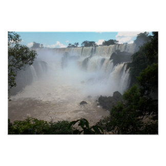 Iguazu Waterfall Argentina/Brazil Divide Photo Poster