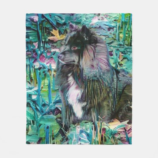 IHANA Finnish Lapphund Lappy fleece blanket