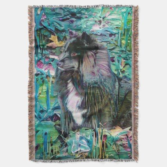 IHANA Finnish Lapphund Lappy tapestry throw