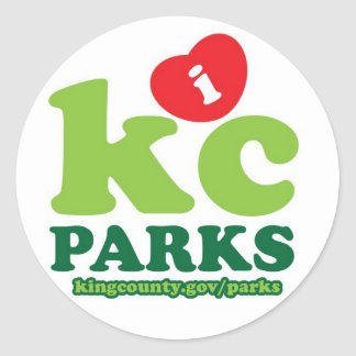 iHeartKCparks Classic Round Sticker