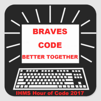 IHMS Hour Of Code 2017 Square Sticker