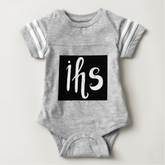 IHS in His service handwriting letters Baby Bodysuit