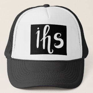 IHS in His service handwriting letters Trucker Hat