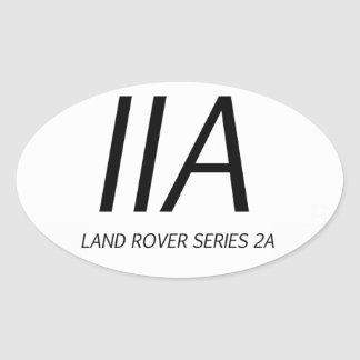 IIA Land Rover Series IIA Oval Sticker