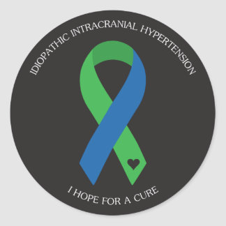 IIH Ribbon - I hope for a cure Classic Round Sticker