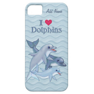 IiHeart Dolphin Family - Customize iPhone 5 Covers