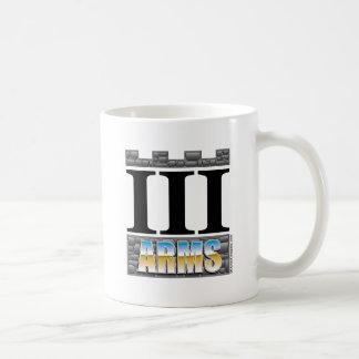 III Arms coffee cup - chrome logo