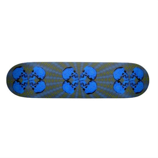 III Butterfly Skulls Custom Skateboard