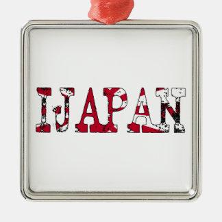 IJapan Silver-Colored Square Ornament