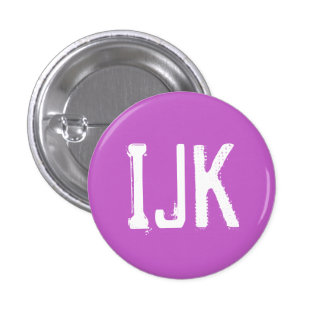 'IJK' Alphabet Collectible (#10) 1 Inch Round Button