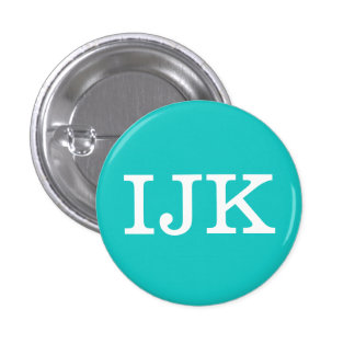 'IJK' Alphabet Collectible (#9) 1 Inch Round Button