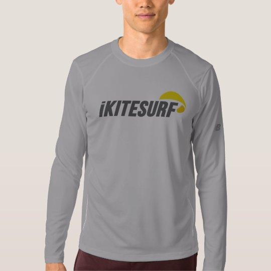 """iK Men's Grey """"Running"""" Shirt LS"""