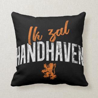 Ik Zal Handhaven Cushion, Dutch Motto Throw Pillow