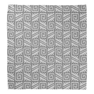 Ikat Aztec Pattern - Shades of Grey / Gray Bandana