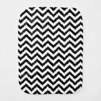 Ikat Chevron Black Pattern Zigzag Burp Cloths