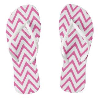 Ikat Chevron in Pink | Sandals Flip Flops