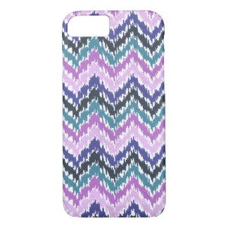 Ikat Chevron Pattern in Pink, Purple, Blue & Teal iPhone 8/7 Case