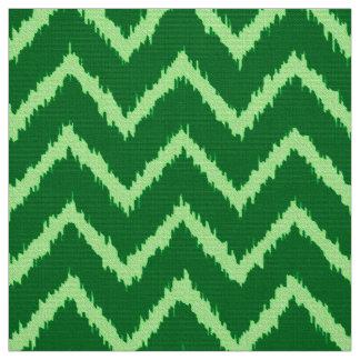 Ikat Chevron Pattern - Pine and light green Fabric