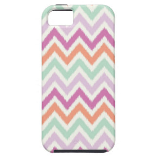Ikat Chevron Print iPhone 5 Case - Teal Coral