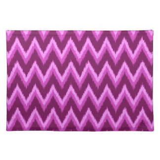 Ikat Chevron Stripes - Amethyst Purple and Violet Placemats