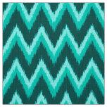 Ikat Chevron Stripes - Turquoise, Teal and Aqua Fabric