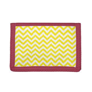 Ikat Chevron Sunny Yellow Pattern Zigzag Tri-fold Wallet