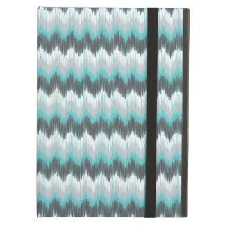 Ikat Chevron Zig Zags Green Gray Elegant Tribal iPad Air Case