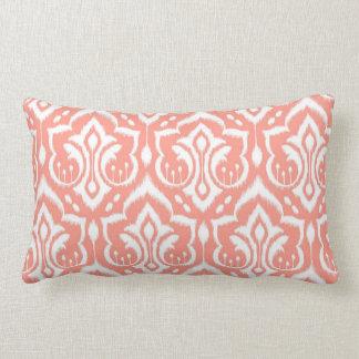 Ikat Damask - Peach Lumbar Pillow