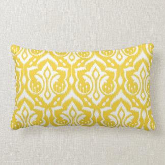 Ikat Damask - Sunshine Yellow Lumbar Pillow