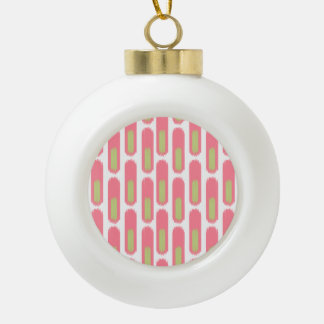 Ikat Diamond59 Ceramic Ball Ornament