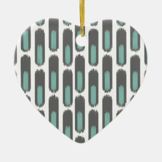 Ikat Diamond59 New Ceramic Heart Ornament