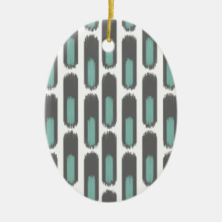 Ikat Diamond59 New Ceramic Oval Ornament