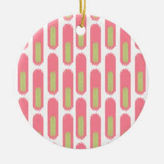 Ikat Diamond59 Round Ceramic Ornament