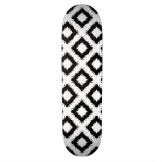 Ikat Inspired Black and White Diamond Skate Decks