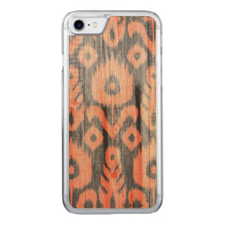 Ikat pattern carved iPhone 8/7 case
