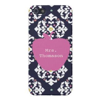 Ikat + Pink Apple Teacher iPhone 5c Case