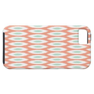 Ikat Print t iPhone 5 Case Coral Teal Aqua
