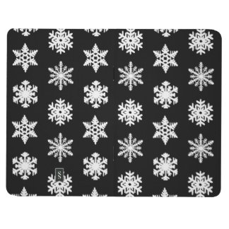 Ikat Snowflakes - Black and white Journals